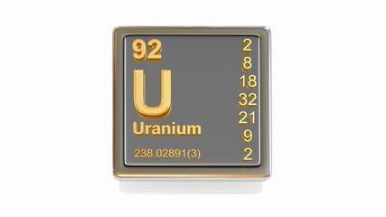 Chemical element. U. 3d