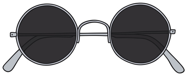 Hand drawing of a classic black glasses