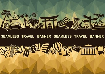 Seamless travel banner