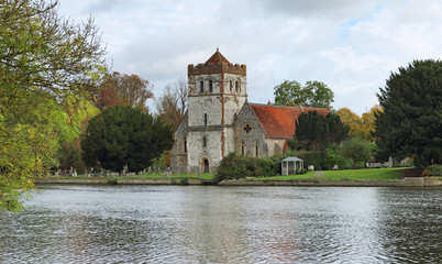 Riverside  English Village Church and Tower