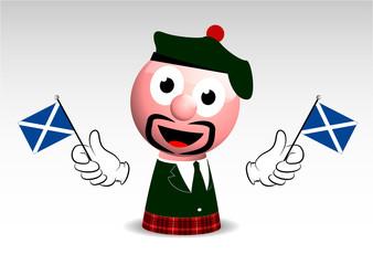 stereotipo scozzese, scozzese, mascotte, personaggio