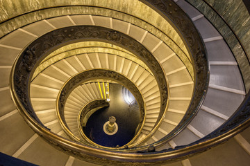 The famous spiral staircase in Vatican