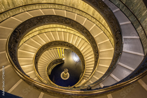 The famous spiral staircase in Vatican - 72463574