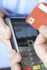 Customer Making Purchase Using Contactless Payment
