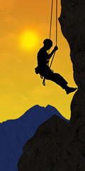 ag3 AlpinistGraphic - climber 1 in the alps - sunset - g2383