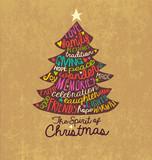 Fototapety Christmas Card Word Cloud tree design