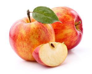 Sweet apples in closeup