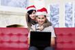 Romantic couple purchase online
