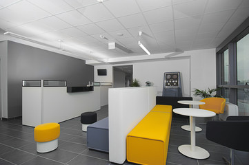 Reception in a Modern Office