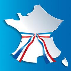 Carte France et écharpe tricolore-1