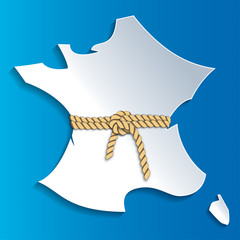 Carte France et corde-1