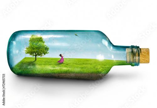 Girl in bottle - 72465733