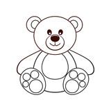 Bear. Vector illustration.