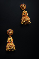 Indian Traditional Gold Earrings