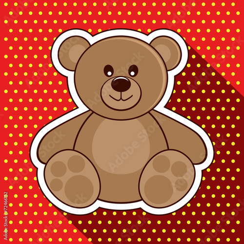 Bear. Vector illustration. - 72466152