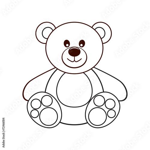 Bear. Vector illustration. - 72466184