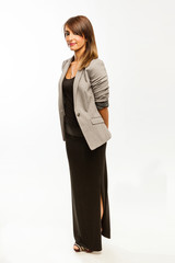 Fascinating business woman standing