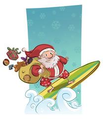 Santa claus surf