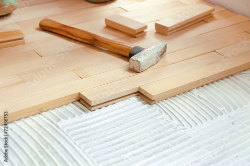 Wood Flooring Installation - 72466753
