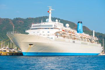 huge passenger liner in the port of Marmaris