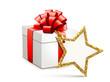 Geschenkbox mit Stern-Etikett