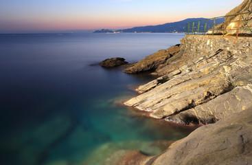 tigullio gulf viewed from Zoagli cliff