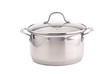 Silver cooking pot on white background - 72468327