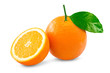 canvas print picture - Orange over white background