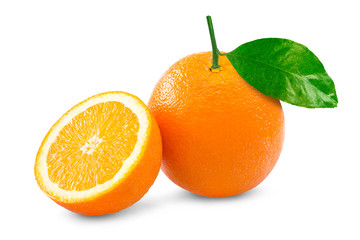 Orange over white background