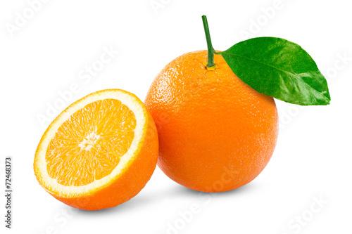 canvas print picture Orange over white background
