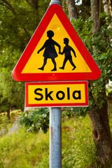 Varning för barn vid svensk skola