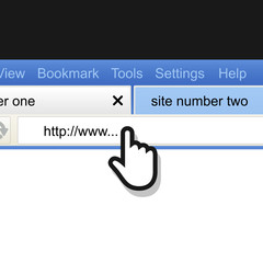 Opened browser window template with the cursor