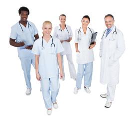 Portrait Of Happy Multiethnic Medical Team