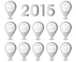 Calendar Year 2015 Pins Vector