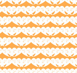 Vector Seamless halloween cute ghost pattern background.