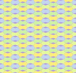 Vector Pastel geometric hexagon seamless patterns.