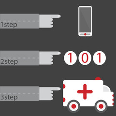 medicine first-aid infographic