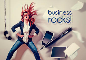 rocking business lady - business rocks 01