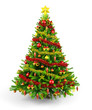 Decorated Christmas tree - 72470578