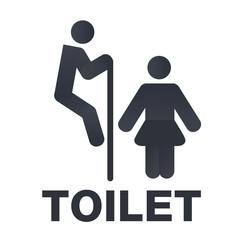 WC sign, toilet signboard, joke vector