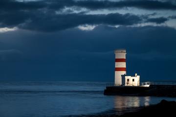 blaue Stunde am Leuchtturm