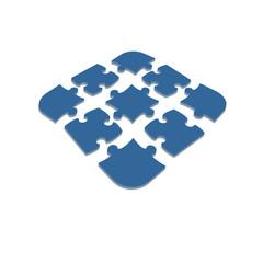 Puzzles piece icon , vector illustration.