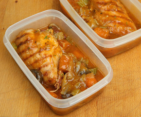 Chicken Casserole Portions for Freezer