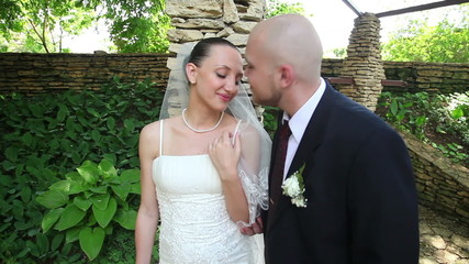 bride and groom kissing 4