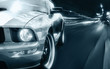 Sport car black and white picture - 72472328