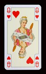 Spielkarten der Ladys - Herz Dame