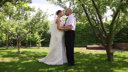 bride and groom kissing 1