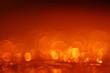 canvas print picture - orange bokeh background