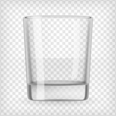 Empty glass.