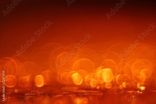 canvas print picture orange bokeh background